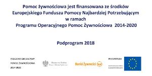 Pomoc żywnościowa podprogram 2018